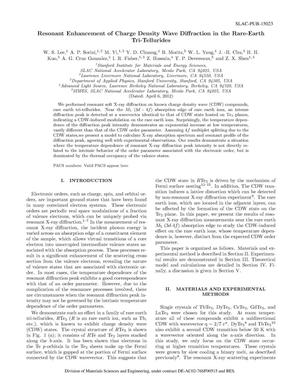 Primary view of object titled 'Resonant Enhancement of Charge Density Wave Diffraction in the Rare-Earth Tri-Tellurides'.