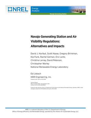 Primary view of object titled 'Navajo Generating Station and Air Visibility Regulations: Alternatives and Impacts'.