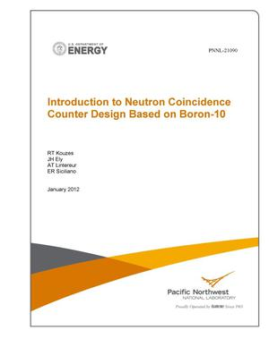 Primary view of object titled 'Introduction to Neutron Coincidence Counter Design Based on Boron-10'.