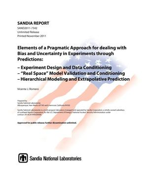 Primary view of object titled 'Elements of a pragmatic approach for dealing with bias and uncertainty in experiments through predictions : experiment design and data conditioning; %22real space%22 model validation and conditioning; hierarchical modeling and extrapolative prediction.'.