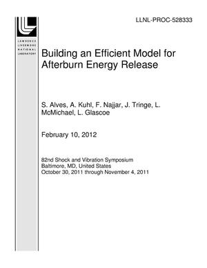 Primary view of object titled 'Building an Efficient Model for Afterburn Energy Release'.