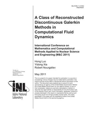Primary view of object titled 'A CLASS OF RECONSTRUCTED DISCONTINUOUS GALERKIN METHODS IN COMPUTATIONAL FLUID DYNAMICS'.