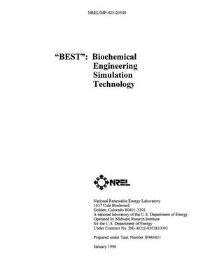 Primary view of object titled 'BEST: Biochemical Engineering Simulation Technology'.