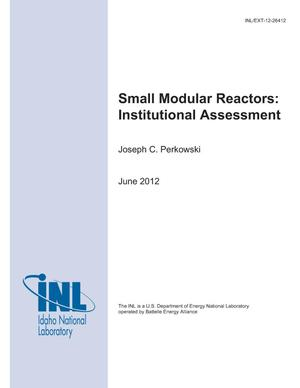 Primary view of object titled 'Small Modular Reactors: Institutional Assessment'.