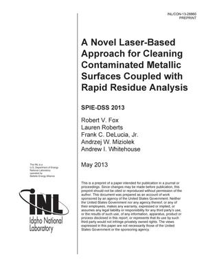 Primary view of object titled 'A novel laser-based approach for cleaning contamin'.