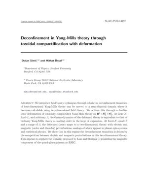 Primary view of object titled 'Deconfinement in Yang-Mills Theory through Toroidal Compactification'.
