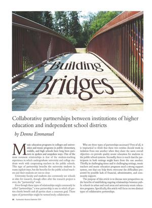Primary view of object titled 'Building Bridges: Collaborative partnerships between institutions of higher education and independent school districts'.