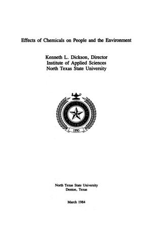 Primary view of object titled 'Effects of Chemicals on People and the Environment'.