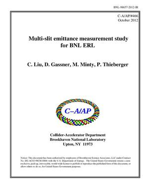 Primary view of object titled 'Multi-slit based emittance measurement study for BNL ERL'.