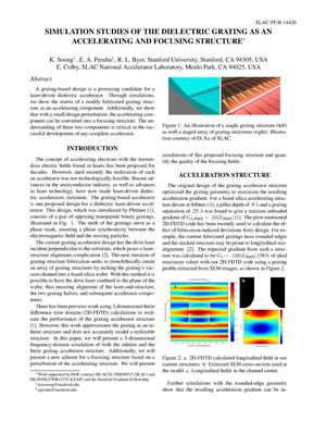 Primary view of object titled 'Simulation Studies of the Dielectric Grating as an Accelerating and Focusing Structure'.