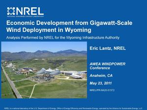 Primary view of object titled 'Economic Development from Gigawatt-Scale Wind Deployment in Wyoming (Presentation)'.