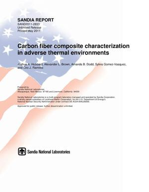 Primary view of object titled 'Carbon fiber composite characterization in adverse thermal environments.'.