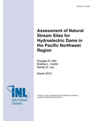 Primary view of object titled 'Assessment of Natural Stream Sites for Hydroelectric Dams in the Pacific Northwest Region'.