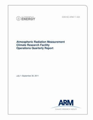 Primary view of object titled 'Atmospheric Radiation Measurement Climate Research Facility Operations Quarterly Report July 1–September 30, 2011'.