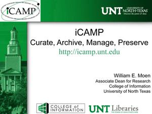 iCAMP: Curate, Archive, Manage, Preserve