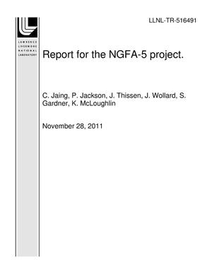 Primary view of object titled 'Report for the NGFA-5 project.'.