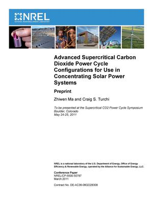 Primary view of object titled 'Advanced Supercritical Carbon Dioxide Power Cycle Configurations for Use in Concentrating Solar Power Systems: Preprint'.