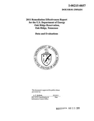 Primary view of object titled '2011 Remediation Effectiveness Report for the U.S. Department of Energy Oak Ridge Reservation, Oak Ridge, Tennessee - Data and Evaluations'.