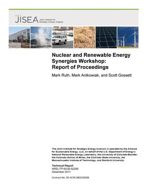 Primary view of object titled 'Nuclear and Renewable Energy Synergies Workshop: Report of Proceedings'.