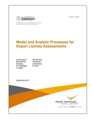 Primary view of object titled 'Model and Analytic Processes for Export License Assessments'.