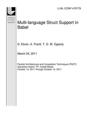Primary view of object titled 'Multi-language Struct Support in Babel'.