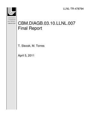 Primary view of object titled 'CBM.DIAGB.03.10.LLNL.007 Final Report'.