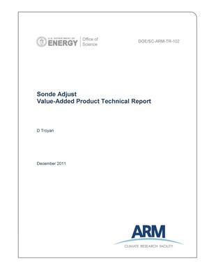 Primary view of object titled 'Sonde Adjust Value-Added Product Technical Report'.