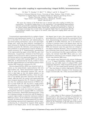 Primary view of object titled 'Intrinsic Spin-Orbit Coupling in Superconducting Delta-Doped SrTiO3 Heterostructures'.