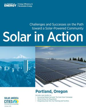 Primary view of object titled 'Portland, Oregon: Solar in Action (Brochure)'.