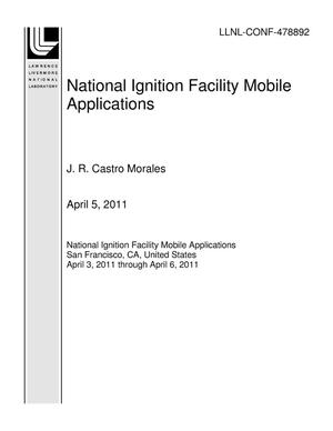 Primary view of object titled 'National Ignition Facility Mobile Applications'.