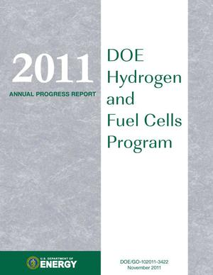 Primary view of object titled '2011 Annual Progress Report: DOE Hydrogen and Fuel Cells Program (Book)'.