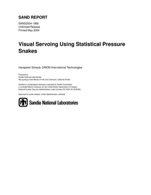 Primary view of object titled 'Visual servoing using statistical pressure snakes.'.