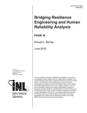 Primary view of object titled 'Bridging Resilience Engineering and Human Reliability Analysis'.