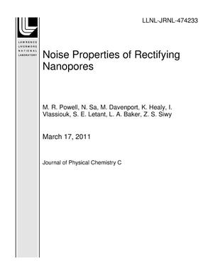 Primary view of object titled 'Noise Properties of Rectifying Nanopores'.
