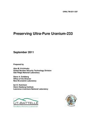 Primary view of object titled 'Preserving Ultra-Pure Uranium-233'.