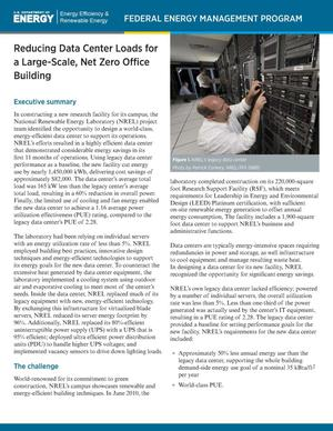 Primary view of object titled 'Reducing Data Center Loads for a Large-Scale, Net Zero Office Building (Brochure)'.