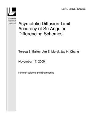 Primary view of object titled 'Asymptotic Diffusion-Limit Accuracy of Sn Angular Differencing Schemes'.