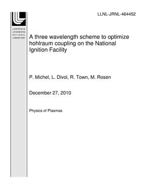 Primary view of object titled 'A three wavelength scheme to optimize hohlraum coupling on the National Ignition Facility'.