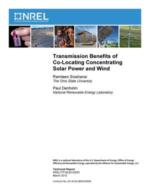 Primary view of object titled 'Transmission Benefits of Co-Locating Concentrating Solar Power and Wind'.