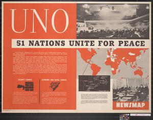 Newsmap for the Armed Forces : UNO, 51 Nations Unite For Peace