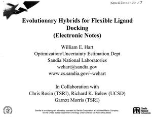 Primary view of object titled 'Evolutionary hybrids for flexible ligand docking : (electronic notes).'.