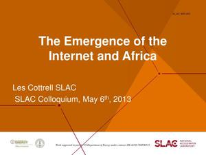 Primary view of object titled 'The Emergence of the Internet and Africa'.