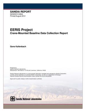 Primary view of object titled 'EERIS project : Crane-Mounted Baseline Data Collection Report.'.