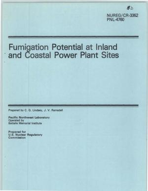 Primary view of object titled 'Fumigation Potential at Inland and Coastal Power Plant Sites'.