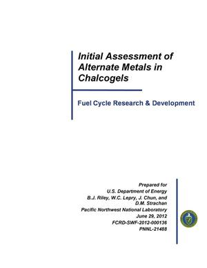 Primary view of object titled 'Initial Assessment of Alternate Metals in Chalcogels'.