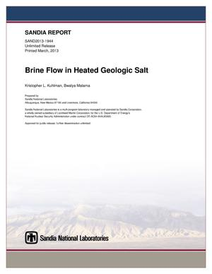 Primary view of object titled 'Brine flow in heated geologic salt.'.