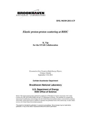 Primary view of object titled 'Elastic proton-proton scattering at RHIC'.