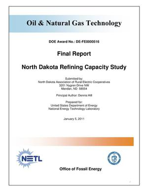 Primary view of object titled 'North Dakota Refining Capacity Study'.