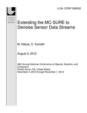 Primary view of object titled 'Extending the MC-SURE to Denoise Sensor Data Streams'.