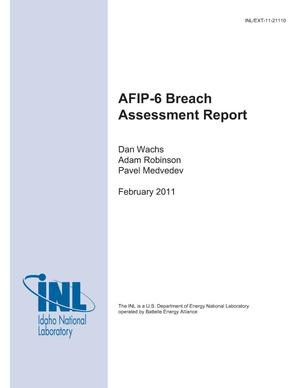 Primary view of object titled 'AFIP-6 Breach Assessment Report'.